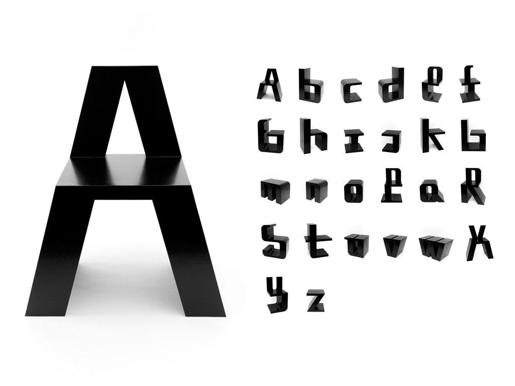 An alphabet to sit upon  S Alphabet Designs
